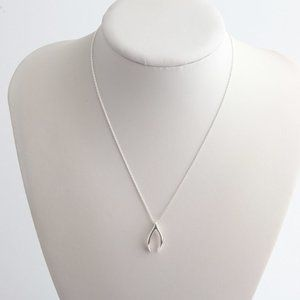 Tory Burch Wishbone Delicate Pendant Necklace